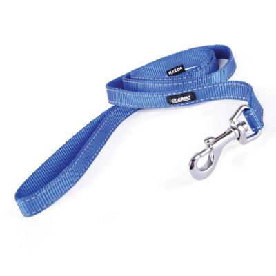 Kazoo Classic Nylon Reflective Lead Blue 1200 x 25mm For Dogs