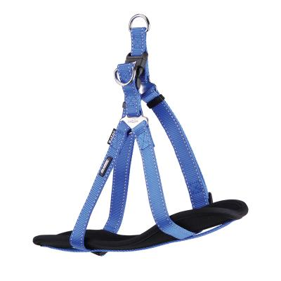Kazoo Classic Nylon Reflective Walking Harness Blue Large XLarge 77-99cm x 25mm For Dogs