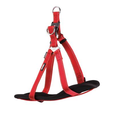 Kazoo Classic Nylon Reflective Walking Harness Red Small 38-53cm x 15mm For Dogs