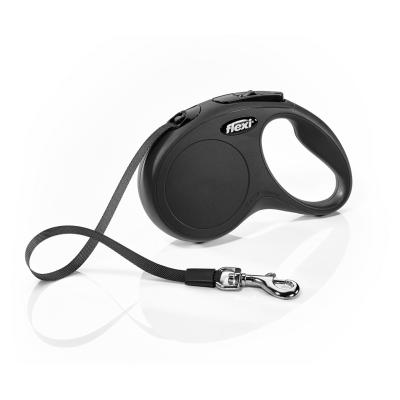 Flexi Retractable Classic Tape Lead Black 5m For Small Dogs