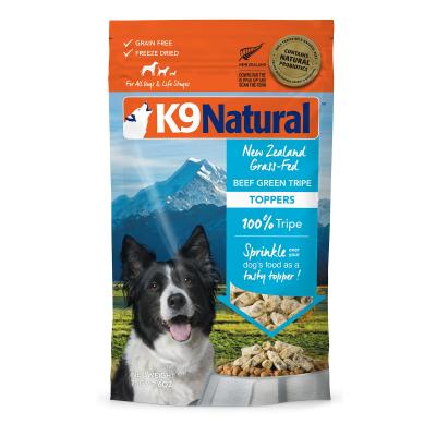 K9 Natural Grain Free Beef Green Tripe Toppers Freeze Dried Meat Dog Food 75g