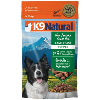 K9 Natural Grain Free Lamb Feast Topper Freeze Dried Meat Dog Food 142g