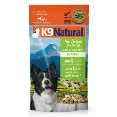 K9 Natural Grain Free Lamb And Green Tripe Toppers Freeze Dried Meat For Dogs 57g