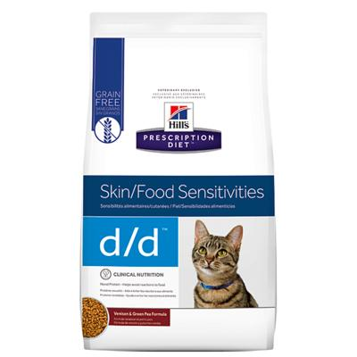 Hills Prescription Diet Feline d/d Dry Cat Food 1.59kg (5350)