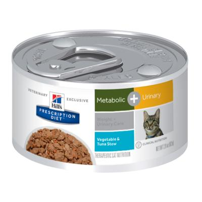 Hills Prescription Diet Feline Metabolic + Urinary Vegetable And Tuna Stew 82gm x 24 Canned Wet Cat Food (10083)