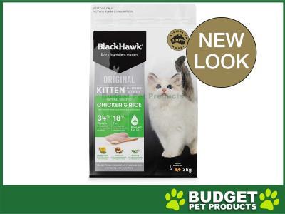 Black Hawk Chicken And Rice Kitten Dry Cat Food 3kg