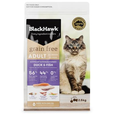 Black Hawk Grain Free Duck And Fish Adult Dry Cat Food 2.5kg