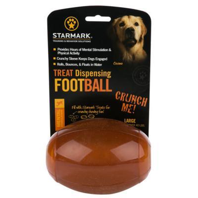 Starmark Treat Dispensing Football Large Dog Toy