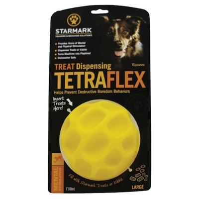 Starmark Treat Dispensing Tetraflex Ball Large Dog Toy
