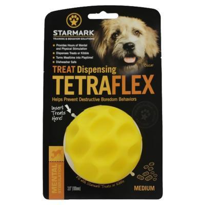 Starmark Treat Dispensing Tetraflex Ball Medium Dog Toy