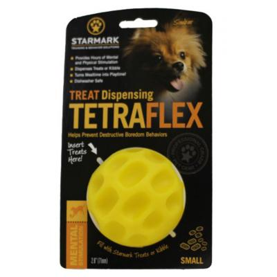 Starmark Treat Dispensing Tetraflex Ball Small Dog Toy