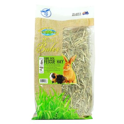 Vetafarm Mini Bale Fibre Rich Fescue Hay For Rabbits And Guinea Pigs 700gm