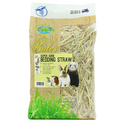 Vetafarm Mini Bale Super Sorb Bedding Straw For Small Animals 800gm