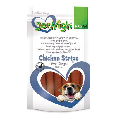Vitapet JerHigh Chicken Strips Treats For Dogs 100gm