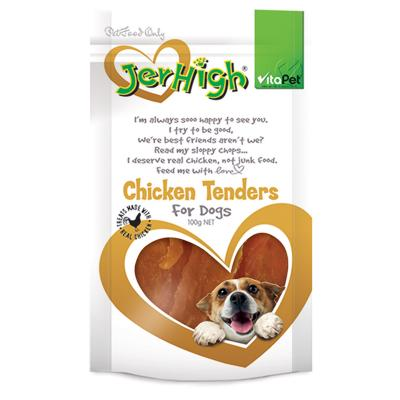 Vitapet Jerhigh Chicken Tenders Treats For Dogs 100gm