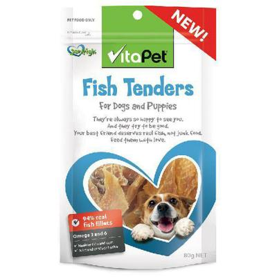 Vitapet Jerhigh Fish Tenders Treats For Dogs80gm