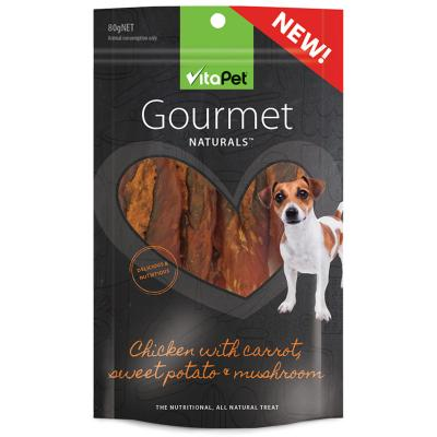Vitapet Gourmet Chicken Carrot Sweet Potato Treats For Dogs 80gm