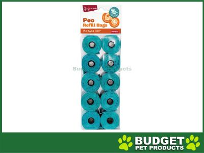 Yours Droolly Refill Roll Plastic Pet Waste Poo Bag Scented 150 Bags