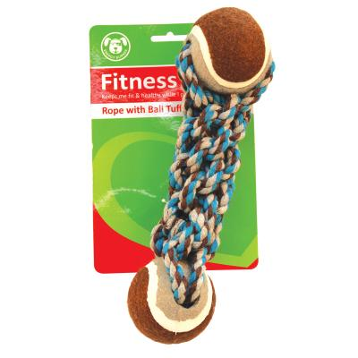 Vitapet Fitness Rope And Ball Dumbell Dog Toy