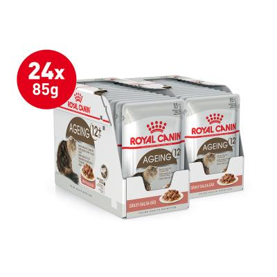 Royal Canin Ageing In Gravy 12+ Years Mature/Senior Pouches Wet Cat Food 85g x 24