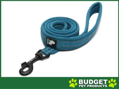True Love Nylon Reflective Padded Lead Blue Large 2m For Dogs