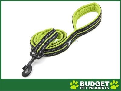 True Love Nylon Reflective Padded Lead Green Medium 2m For Dogs