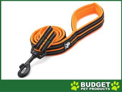 True Love Nylon Reflective Padded Lead Orange Medium 1m For Dogs
