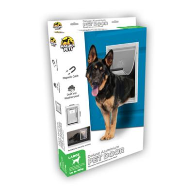 Hakuna Pets Deluxe Aluminium Pet Door Large For Dogs