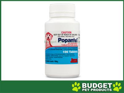 Popantel Allwormer Tablets For Dogs 10kg 100 Tablets