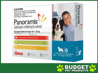 Panoramis (Comfortis Plus) For Dogs Blue 18.1-27kg 6 Pack