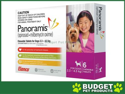 Panoramis (Comfortis Plus) For Dogs Pink 2.3-4.5kg 6 Pack