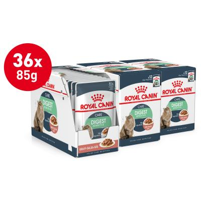 Royal Canin Digest Sensitive In Gravy Adult Pouches Wet Cat Food 85g x 36