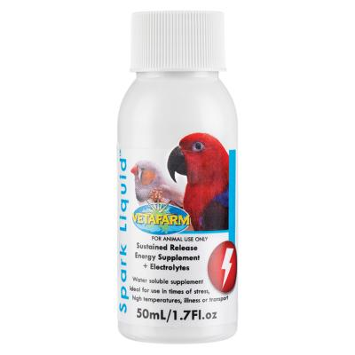 Vetafarm Spark Liquid Electrolyte Concentrate For Birds 50ml