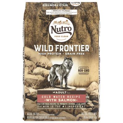 Nutro Wild Frontier Cold Water Salmon Grain Free High Protein Adult Dry Dog Food 10.9kg