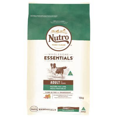 Nutro Wholesome Essentials Pasture Fed Lamb Rice Vegetable Adult Dry Dog Food 15kg
