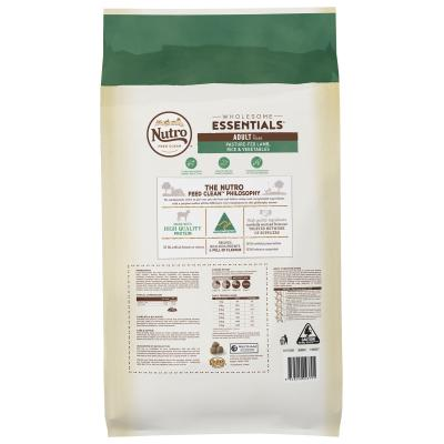 Nutro Wholesome Essentials Pasture Fed Lamb Rice Vegetable Adult Dry Dog Food 15kg