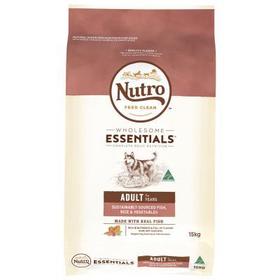 Nutro Wholesome Essentials Sustainably Sourced Fish Rice Vegetable Adult Dry Dog Food 15kg