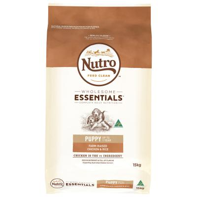 Nutro Wholesome Essentials Farm Raised Chicken Rice Vegetable Puppy Dry Dog Food 15kg
