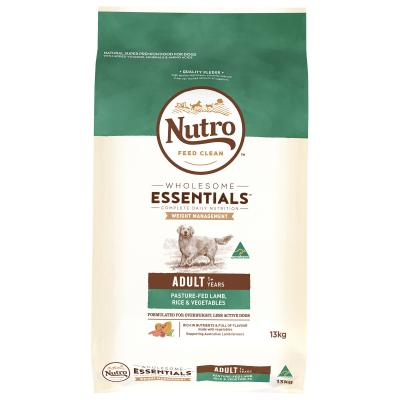 Nutro Wholesome Essentials Weight Management Pasture Raised Lamb Rice Vegetable Dry Dog Food 13.5kg