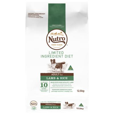 Nutro Limited Ingredient Diet Lamb And Rice Adult Dry Dog Food 12.5kg