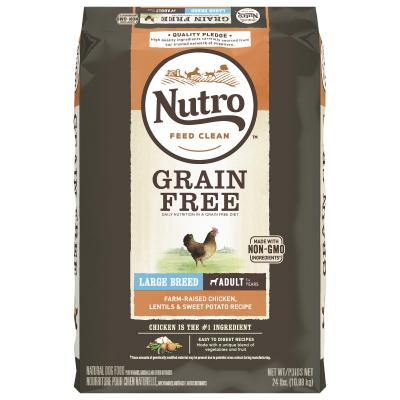 Nutro Grain Free Farm Raised Chicken Lentil Sweet Potato Large Breed Adult Dry Dog Food 10.9kg