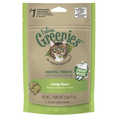 Greenies Feline Dental Treats Catnip Flavour For Cats 71g