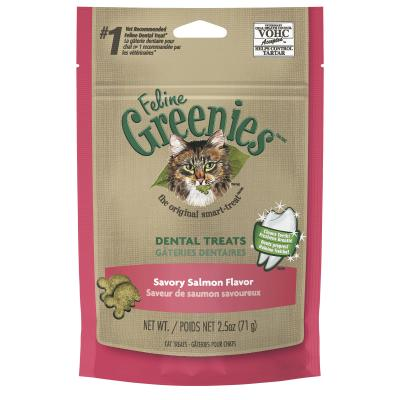 Greenies Feline Dental Treats Salmon Flavour For Cats 71g