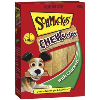 Schmackos Chew Strips Chicken Treats For Dogs 100g