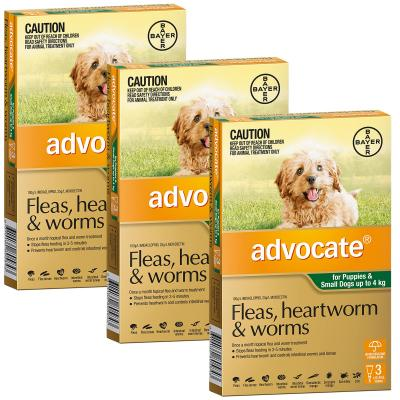 Advocate For Dogs Small Green Up To 4kg 9 Pack