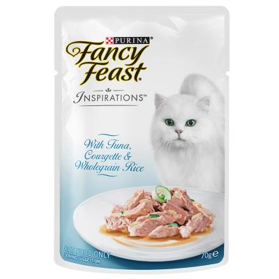 Fancy Feast Inspirations Tuna, Courgette And Wholegrain Rice Pouches Wet Cat Food 70g x 12