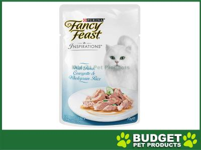 Fancy Feast Inspirations Tuna, Courgette And Wholegrain Rice Pouches Wet Cat Food 70g x 24
