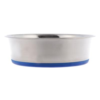 Yours Droolly Stainless Steel Non Skid Rubber Base Bowl 1.9L 21cm For Dogs Cats Birds Small Animals