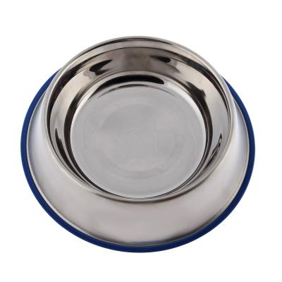 Yours Droolly Stainless Steel Non Skid Rubber Base Bowl 1.7L 29cm For Dogs Cats Birds Small Animals