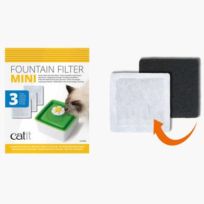 Catit 2.0 Senses Flower Water Fountain Replacement Mini Filter Cartridge 3 Pack
